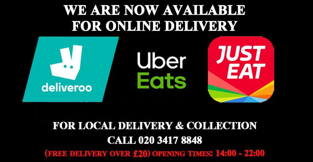 Uber Eats Koz Ocakbasi Turkish restaurant Greenford Just Eat Feed the Lion deliveroo